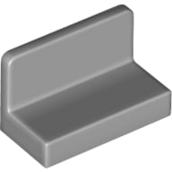 Hollow Studs 87552 LT BL GRAY LEGO Parts~ Panel 1 x 2 x 2 w Side Supports 2