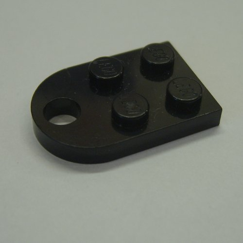 part no 3176 Plate 3 x 2 with Hole in Black 4x Lego