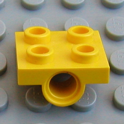 Plate 2 x 2 with Hole in Yellow part no 2444 4x Lego