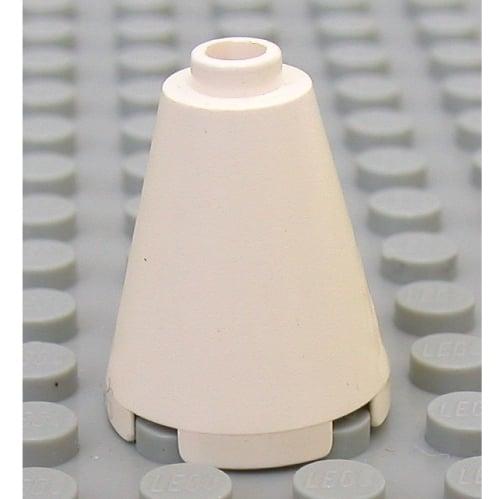 15 Lego Kegel 2x2x2 rund konisch weiss NEU 3942c
