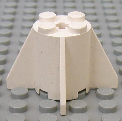 LEGO PART 4591 BLACK BRICK ROUND 2 X 2 X 2 WITH FINS