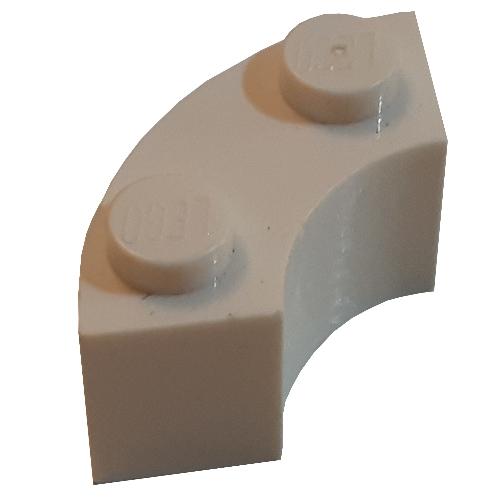 4 x 85080 lego brick corner brick 2x2 round corner new medium azure