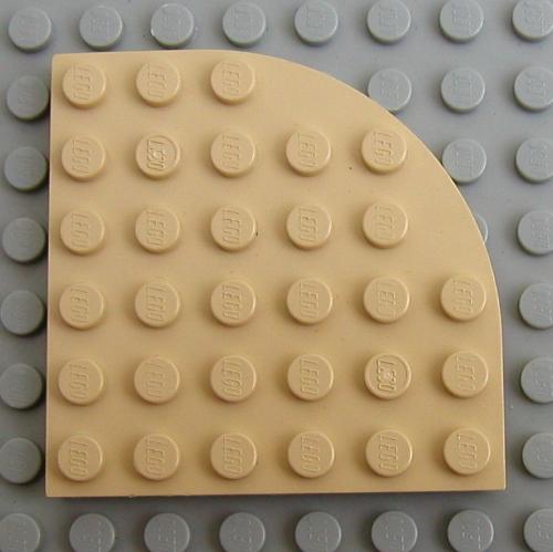 8 NEW LEGO Plate Round Corner 6 x 6 White