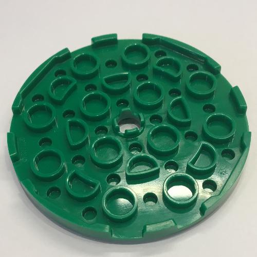 Lego 2x Flat Round Plate Round 6x6 hole hole green lemon//lime 11213 NEW