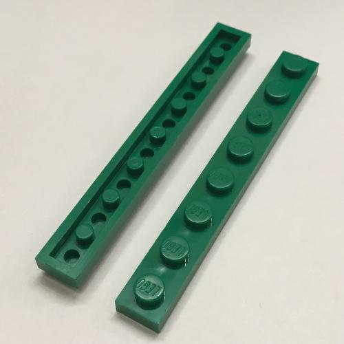 LEGO Lot of 4 Reddish Brown 1x8 Plates