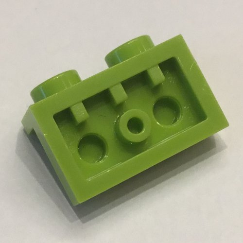 99780 Plaque Support VERT GREEN Angle Plate 1x2 Lot x4 Lego 1x2-6099243