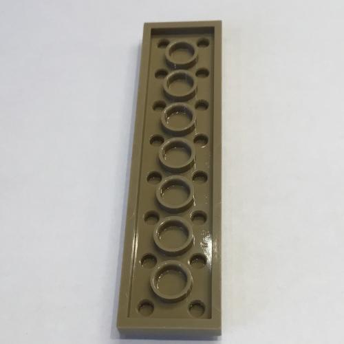 3034 /_Medium Stone Grey Plate 2x8 Lot of 10 4211406