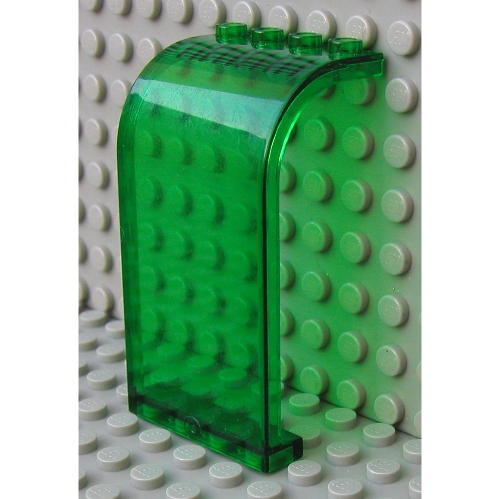 Lego-panel panel 3x4x6 curved top 2571 white//white//weiss x1 x2 x4