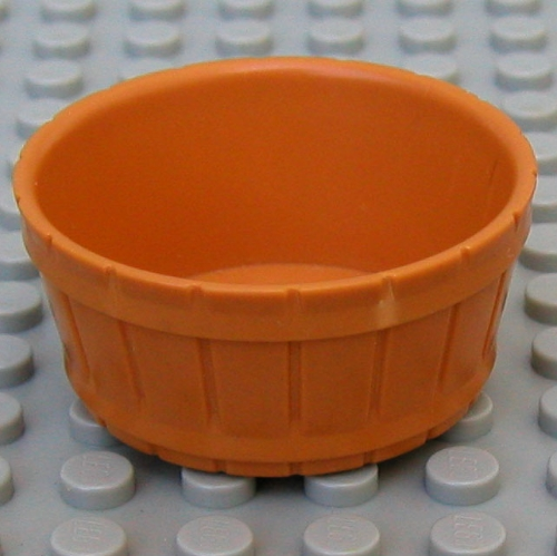 Lego Lot Of  Lime Green Container Barrel Half Large