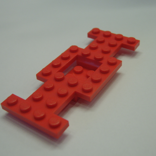Lego part 4212 vehicle base 4x10x2//3 w// 2x2 recessed center 1pc