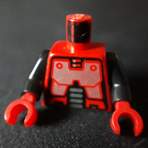 1 X  Lego 2569 Antenna Whip 8H Red
