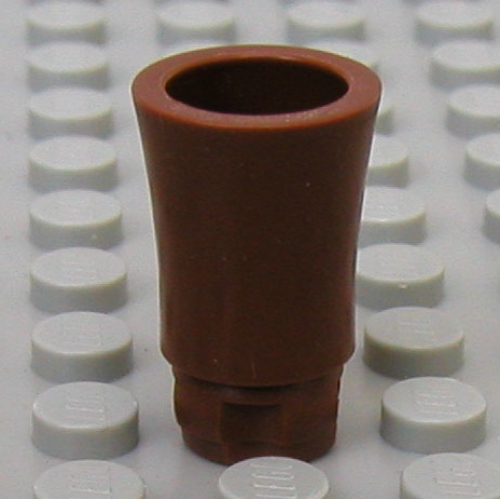 Tree Palm Trunk Long Indented Connector 2X  LEGO 2536a Brown Plant