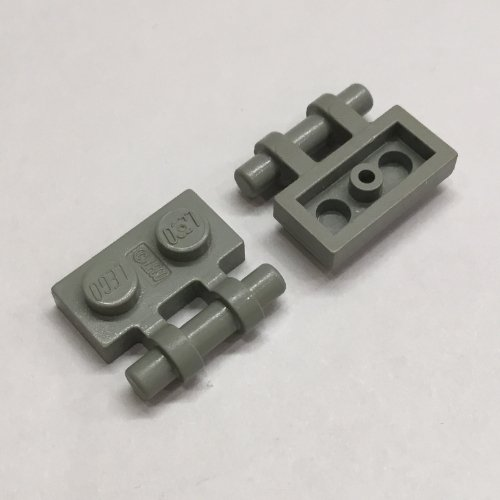 LEGO RED PLATES 1 x 2 WITH HANDLE ON SIDE PART 2540