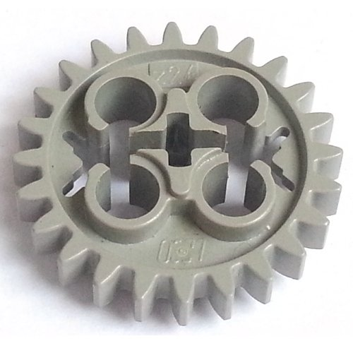 part no 3648b Technic Gear 24 Tooth in Old Grey 2x Technic Lego