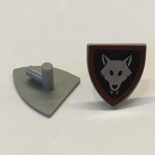 Lego 3846p44 Minifig Zubehör Schild Wolfsbande Wolfpack
