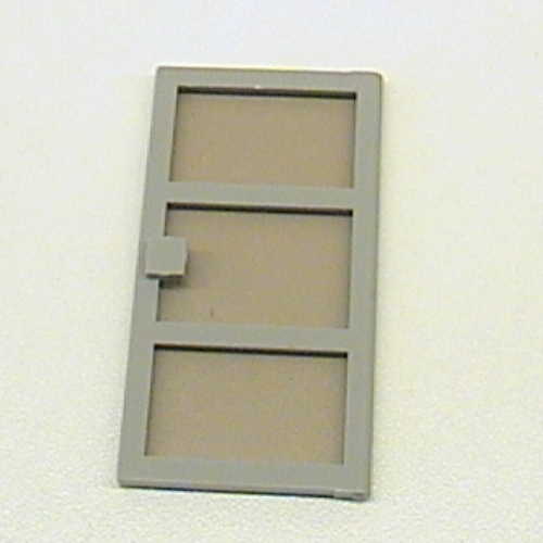 Lego Light Gray Door 1 x 4 x 6 with 3 Panes with Trans-Black Glass