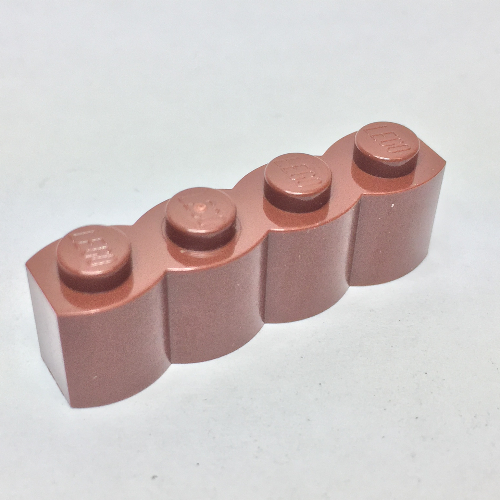 Modified 1 x 4 Log 7X LEGO 30137 Reddish Brown Brick