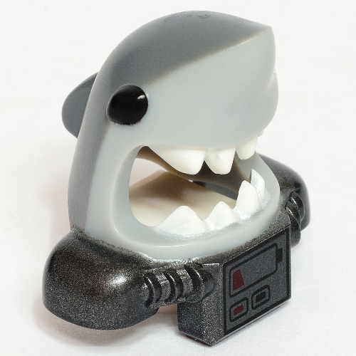 LEGO PART 25113pr0002 Minifig Mask Shark Head with Wide Open Mouth