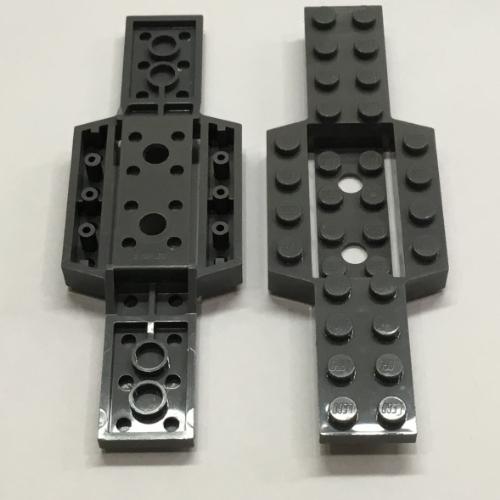 1 x LEGO 52036 Chassis Voiture gris dark grey Vehicle Base 4x12x3//4 NEUF NEW