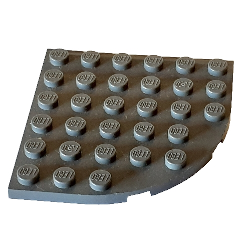 4x plate round plate round corner 6x6 green//green 6003 new Lego