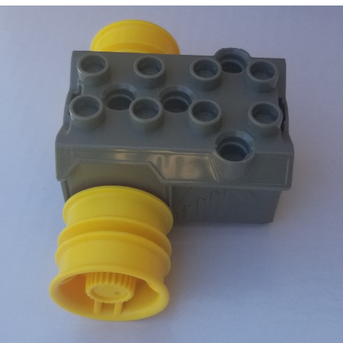 Lego Part 40348c01 Duplo Toolo Pullback Motor 3 X 4 With Yellow