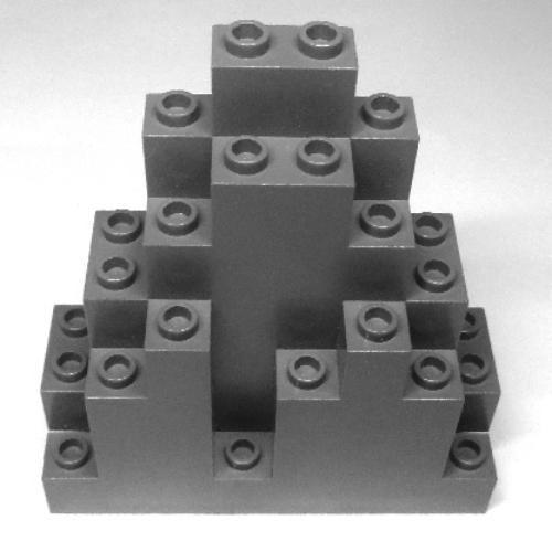 Dark Bluish Gray 4 x Used Lego parts 6083 ROCK PANEL TRIANGULAR LURP