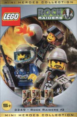 LEGO 3349-1 Three Minifig Pack - Rock Raiders #3 - Ninja Brick