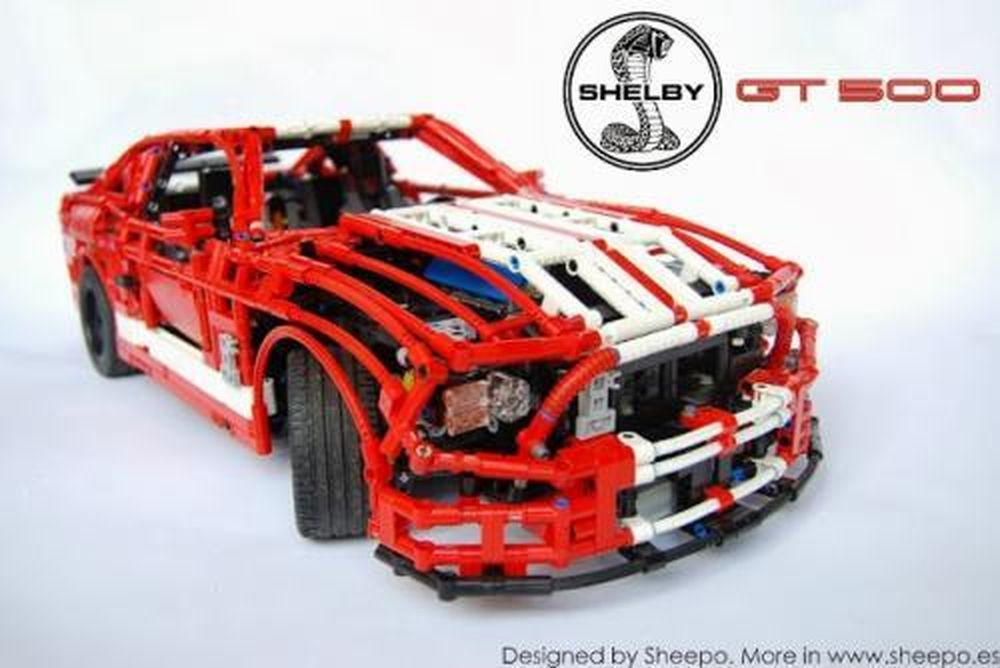 Lego Moc 1180 Ford Mustang Shelby Gt500 Rc Technic 2013