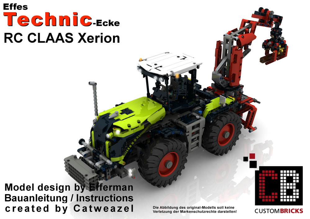 Lego Moc 11907 Custom Rc Claas Xerion Modification Technic 2017