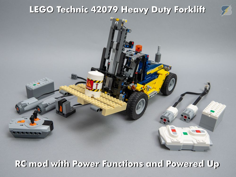 Lego Moc 17370 Technic 42079 Heavy Duty Forklift Rc Mod Technic
