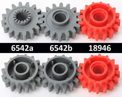 18946 new gear 16 tooth with clutch on both sides Lego x 1-red technic
