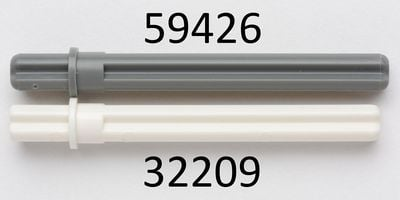 59426 Free Postage 16x Lego Technic Axle 5.5 with Stop Dark Grey