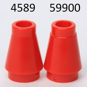 Lego Lot Of 13 Translucent Orange 1x1 Round Cone Bricks