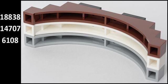 ponte ARCO LEGO Grigio//mdstone 6108 1 x 12 x 3