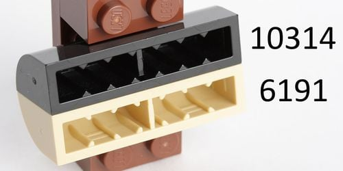 Lego 2x Brique Brick Modified 1x4x1 1//3 Curved Top beige//tan 6191 NEUF