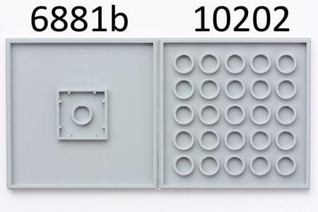 1x LEGO 10202 Piatto 6x6 Grigio scuro6147337