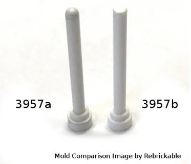 LEGO 3957 ROUND TOP or 30064 WHIP ANTENNA BAR CHOICE COLOR NEW or pre-owned