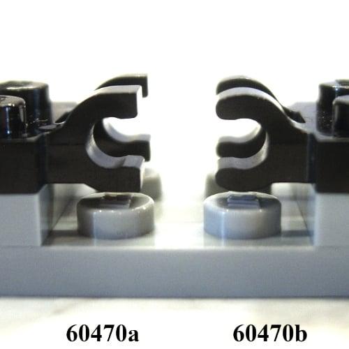 10x Lego ® 60470b 1x2 Plate Green Modified horizontally 2 Clips Plate mod Green