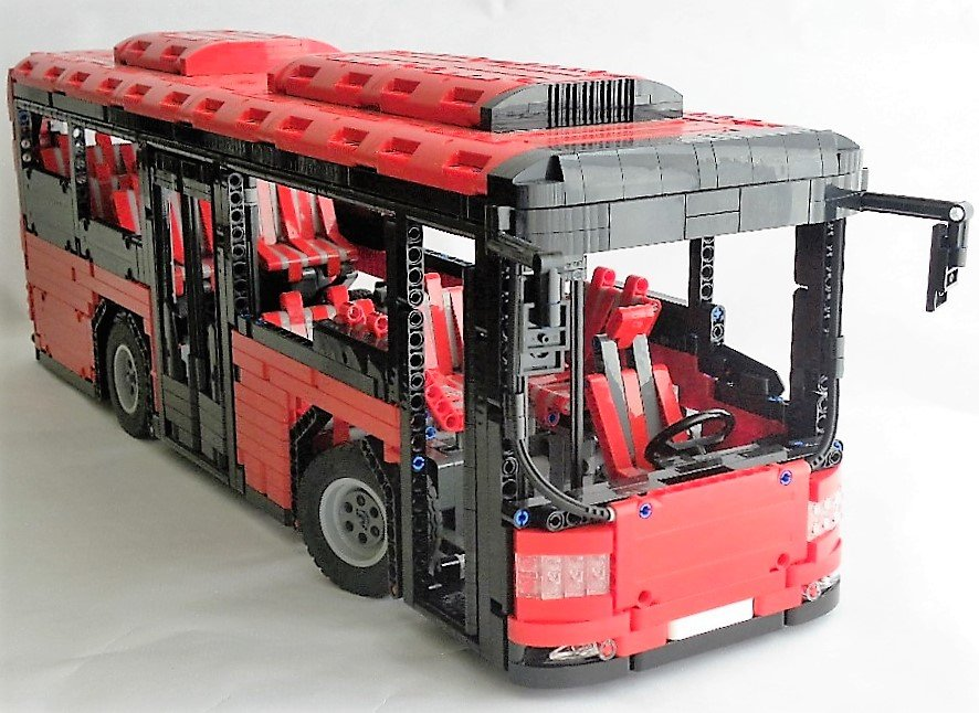 lego moc 5161 motorized bus technic 2016 rebrickable. Black Bedroom Furniture Sets. Home Design Ideas