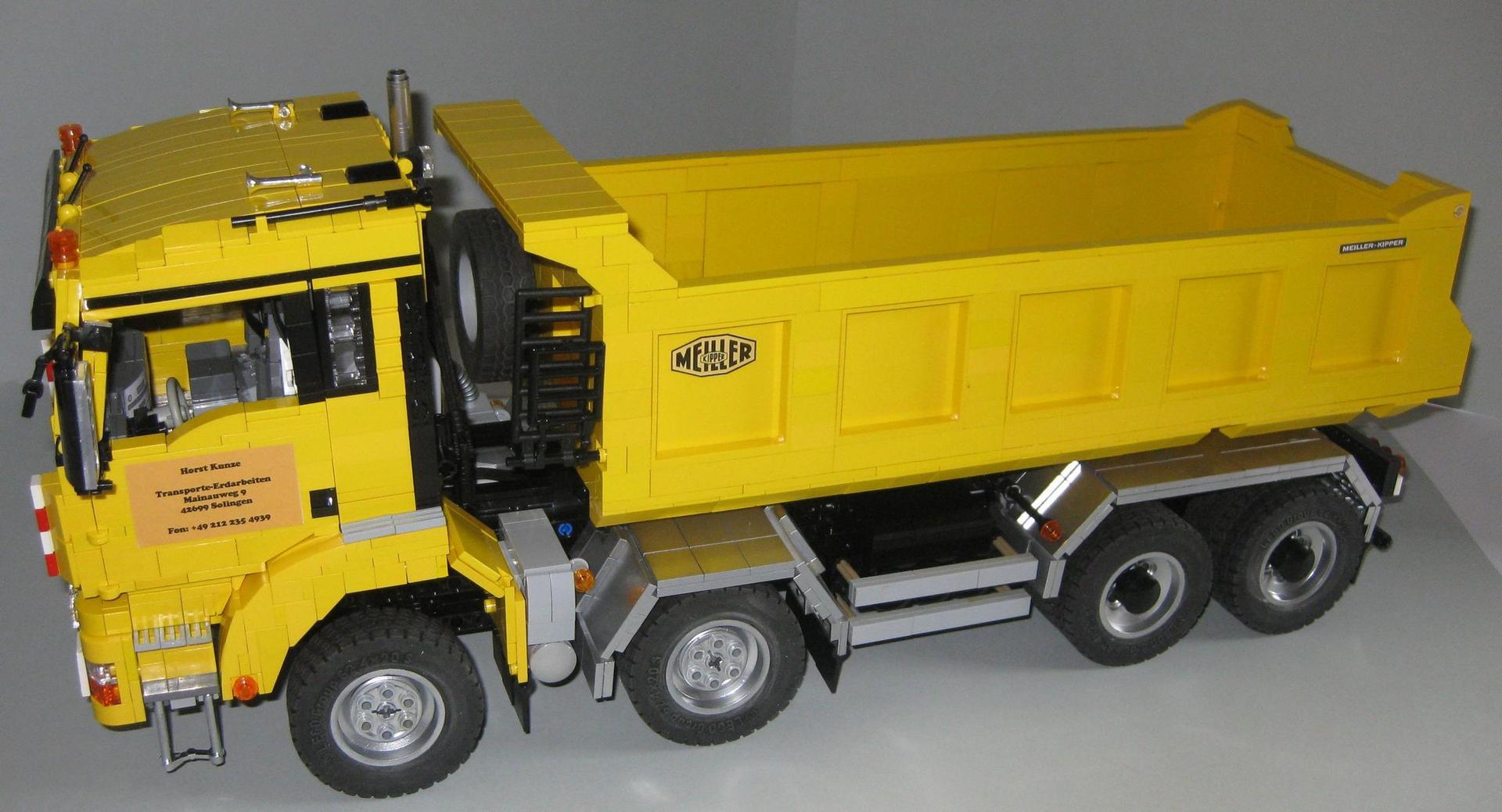 Lego Moc 2918 Man Tgs 8x4 Dump Truck Technic 2015 Rebrickable