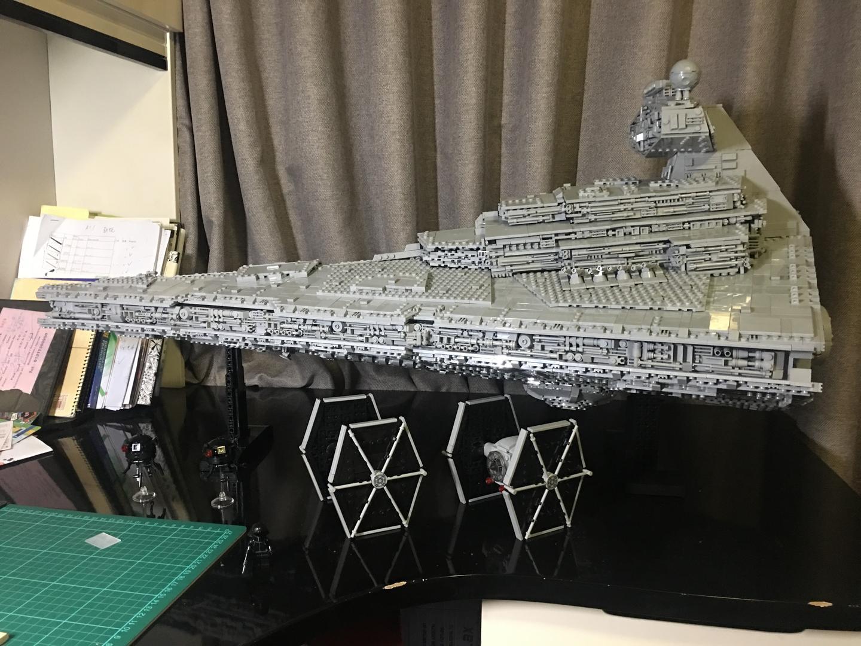 LEGO MOC-9018 Moderately Sized ISD with Full Interior (Star