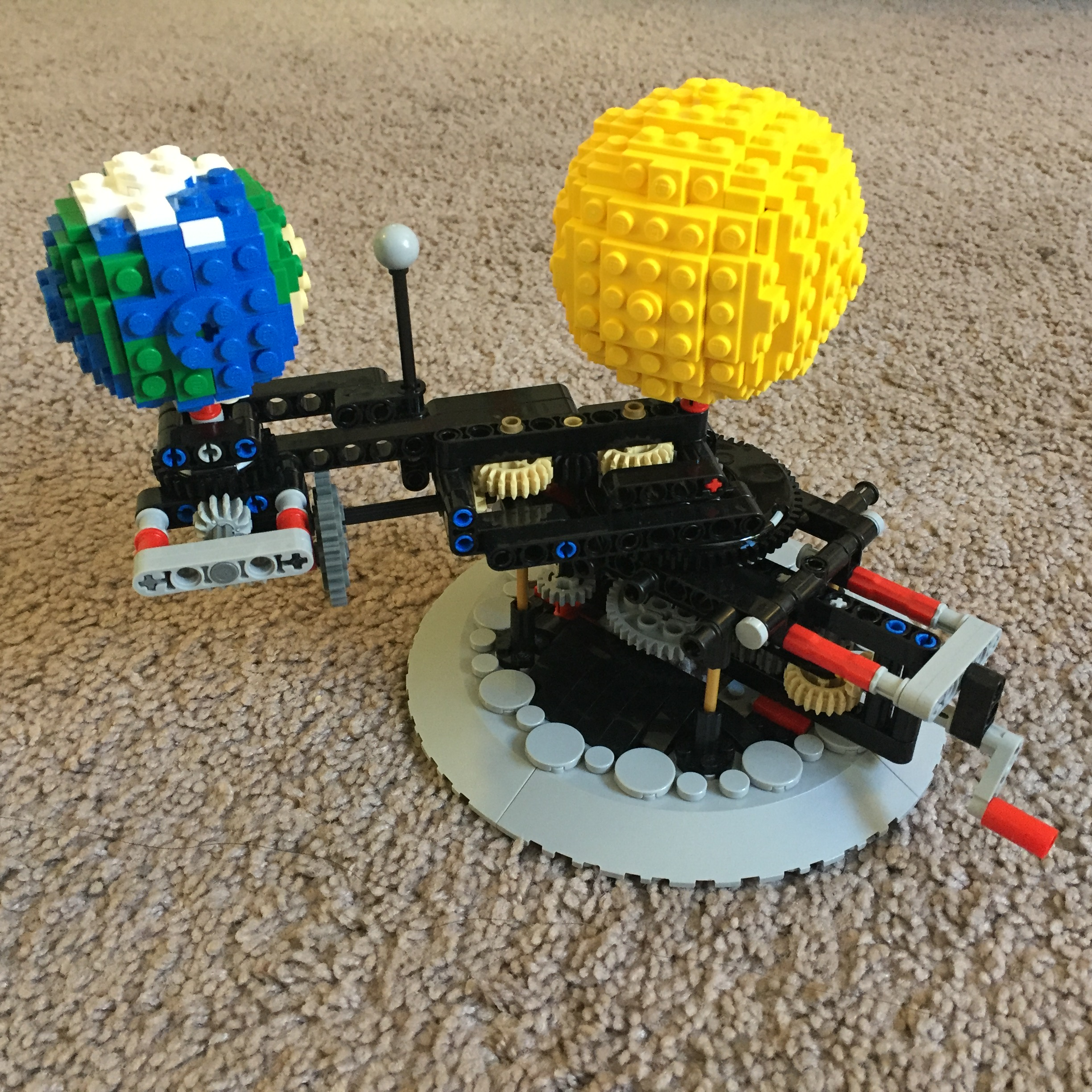 Lego Moc 4477 Earth Moon And Sun Orrery Technic 2016